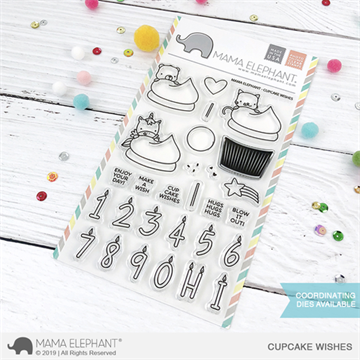 Happymade - Mama Elephant clear stamp set - Cupcake Wishes