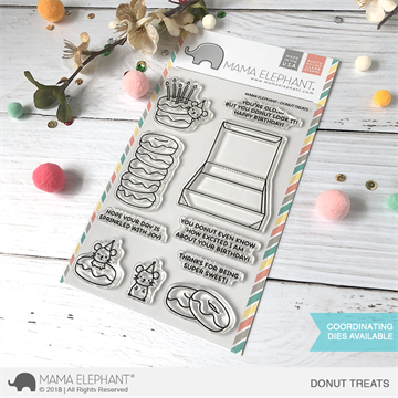 Happymade - Mama Elephant clear stamp set - Donut Treats