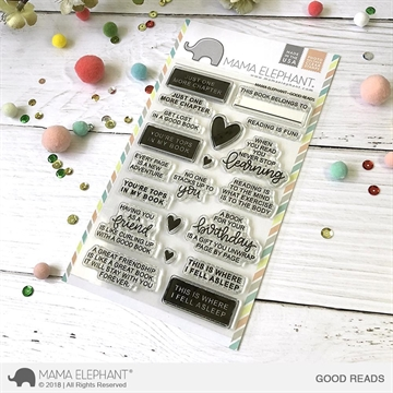 Happymade - Mama Elephant clear stamp set - Good Reads