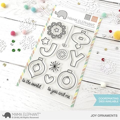 Happymade - Mama Elephant clear stamp set - Joy Ornaments
