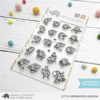 Happymade - Mama Elephant clear stamp set - Little Mermaiden Agenda