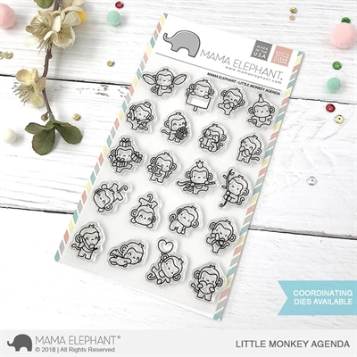 Happymade - Mama Elephant clear stamp set - Little Monkey Agenda
