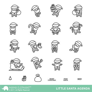 Mama Elephant - Little Santa agenda