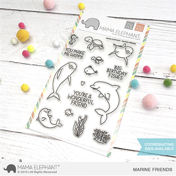 Happymade - Mama Elephant clear stamp set - Marine Friends