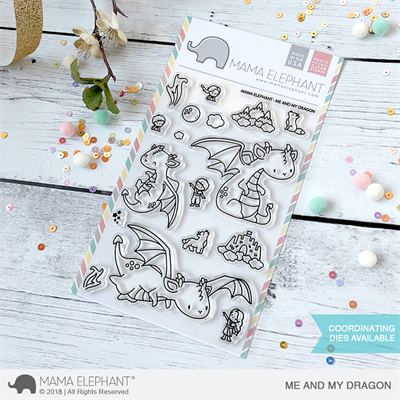 Happymade - Mama Elephant clear stamp set - Me & My Dragon