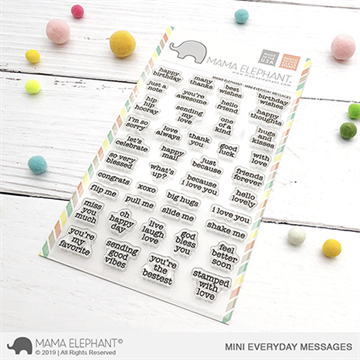 Happymade - Mama Elephant clear stamp set - Mini Everyday Messages
