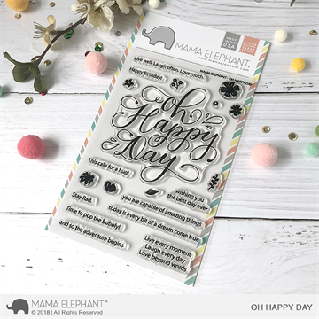 Happymade - Mama Elephant clear stamp set - Oh Happy Day