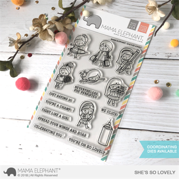 Happymade - Mama Elephant clear stamp set - She's So Lovely