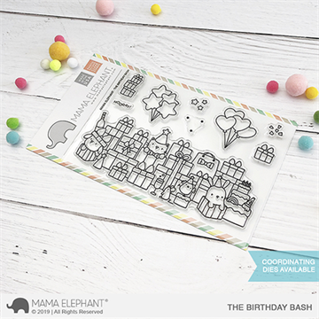 Happymade - Mama Elephant clear stamp set - Birthday Bash