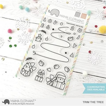 Happymade - Mama Elephant clear stamp set - Trim The Tree
