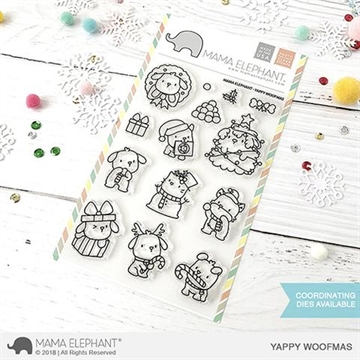 Happymade - Mama Elephant clear stamp set - Yappy Woofmas