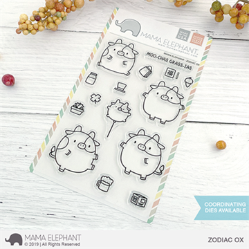 Happymade - Mama Elephant clear stamp set - Zodiac Ox