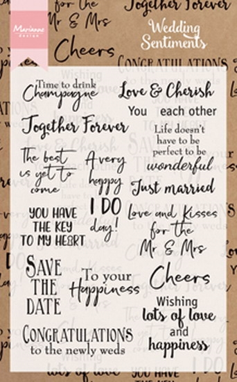 Marianne Design - Clear stamp - Wedding sentiments