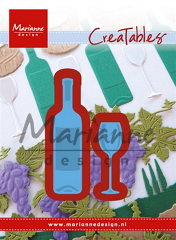 Marianne Design - Die - Wine Bottle & Glass