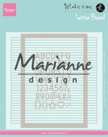 Happymade - Marianne Design - Embossing folder + dies - Letter Board (DF3454)