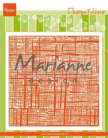 Happymade - Marianne Design - Embossing folder - Linnen (DF3453)