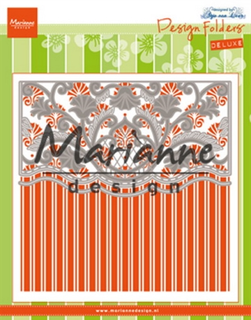 Marianne Design - Embossing folder + dies - Anja's Ornamental border (DF3443)
