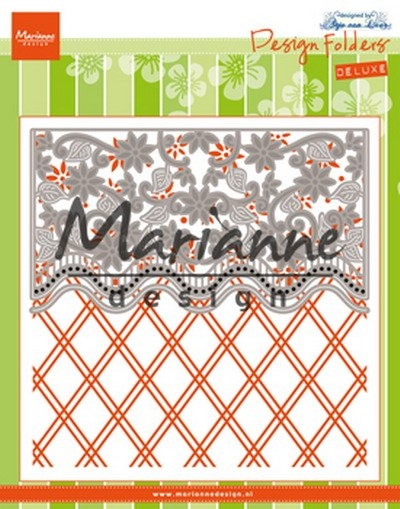 Marianne Design - Embossing folder + dies - Anja\'s Flower border (DF3443)
