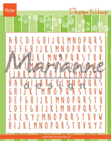 Marianne Design - Embossing folder - ABC(DF3437)