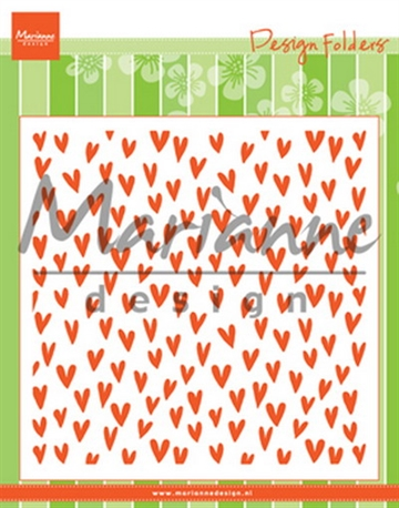 Marianne Design - Embossing folder - Trendy Hearts (DF3487)