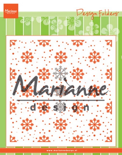 Marianne Design - Embossing folder + die - Snow and ice crystals (DF3440)