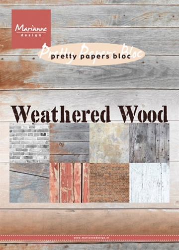 Marianne Design - Marianne Design - Pretty Papers Bloc A5 - Weathered Wood - PK9155