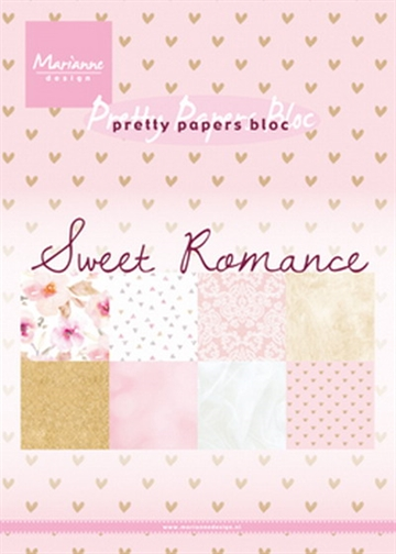 Marianne Design - Pretty Papers Bloc A5 - Sweet Romance - PK9153