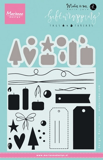 Marianne Design - Clear stamp - Tags & Threads