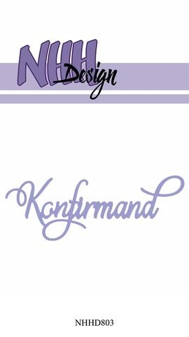 Happymade - NHH Design - Tekst die - NHHD803 - Konfirmand