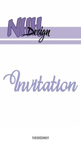 Happymade - NHH Design - Tekst die - NHHD805 - Invitation