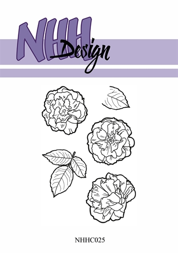 Happymade - NHH Design - Clear Stamp - NHHC25 - Blomster