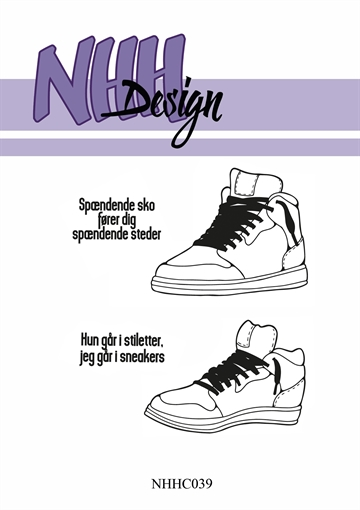 Happymade - NHH Design - Clear Stamp - NHHC039 - Sneakers