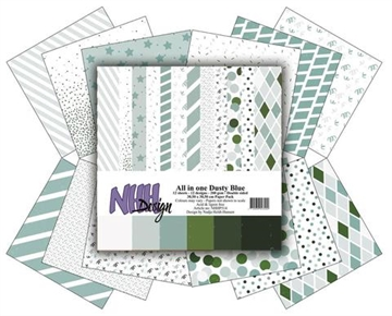 Happymade - NHH Design - Papers - All in One - Dusty Blue (NHHP515)