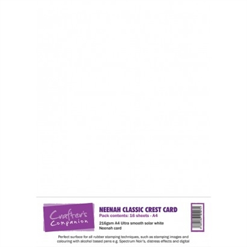 Crafter's Companion - Neenah Classic Crest Card Solar White (16 ark)