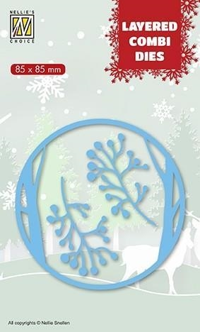 Happymade - Nellie Snellen - Layered Die - Round - Christmas Deer (LCDCD001)