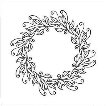 Nellie Snellen - Embossing folder -  Leaves wreath - EFE031