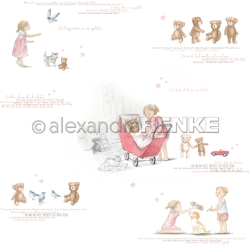 "Happymade - Alexandra Renke - 12x12"" - Kids Girls and Teddies - 10.1764"