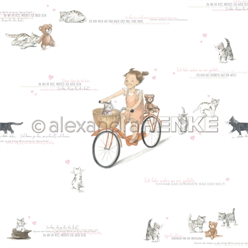 "Happymade - Alexandra Renke - 12x12"" - Kids Little Cyclist - 10.1765"