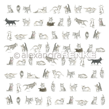 "Happymade - Alexandra Renke - 12x12"" - Kids Cats - 10.1766"