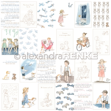 "Happymade - Alexandra Renke - 12x12"" - Card Sheet - Kids Best Friends - 10.1772"