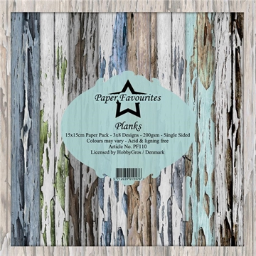Happymade - Paper Favourites - Design papers - 15x15cm - Planks (PF110)