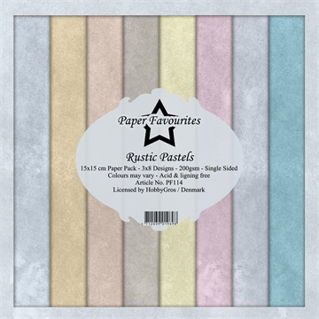 Happymade - Paper Favourites - Design papers - 15x15cm - Rustic Pastels (PF114)