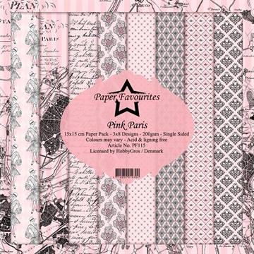 Happymade - Paper Favourites - Design papers - 15x15cm - Pink Paris (PF115)