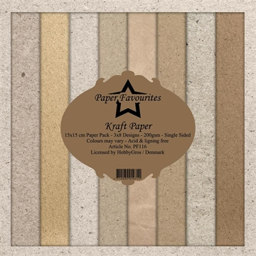 Happymade - Paper Favourites - Design papers - 15x15cm - Kraft Paper (PF116)