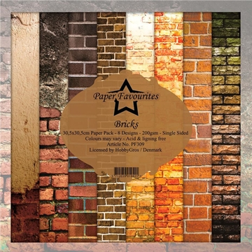 "Happymade - Paper Favourites - Design papers - 12x12"" - Bricks (PF309)"