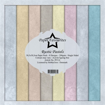 "Happymade - Paper Favourites - Design papers - 12x12"" - Rustic Pastels (PF314)"