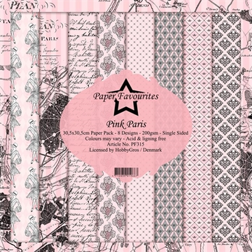 "Happymade - Paper Favourites - Design papers - 12x12"" - Pink Paris (PF315)"