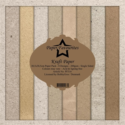 "Happymade - Paper Favourites - Design papers - 12x12"" - Kraft Paper (PF316)"