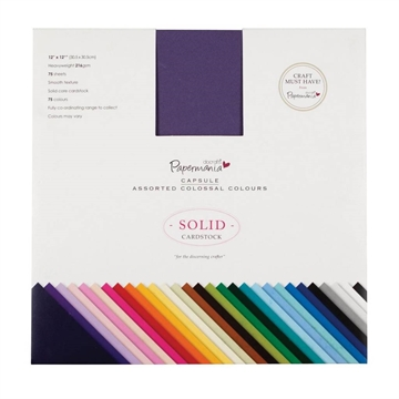 "Happymade - DoCrafts Papermania - Paper Pad - 12x12"" - Ass. colours (Smooth texture)"