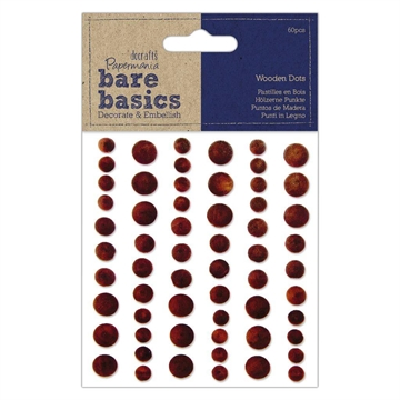 Happymade - DoCrafts Papermania - Wooden dots - Dark (PMA174732)